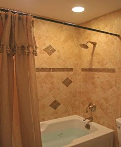 Tile small bathroom