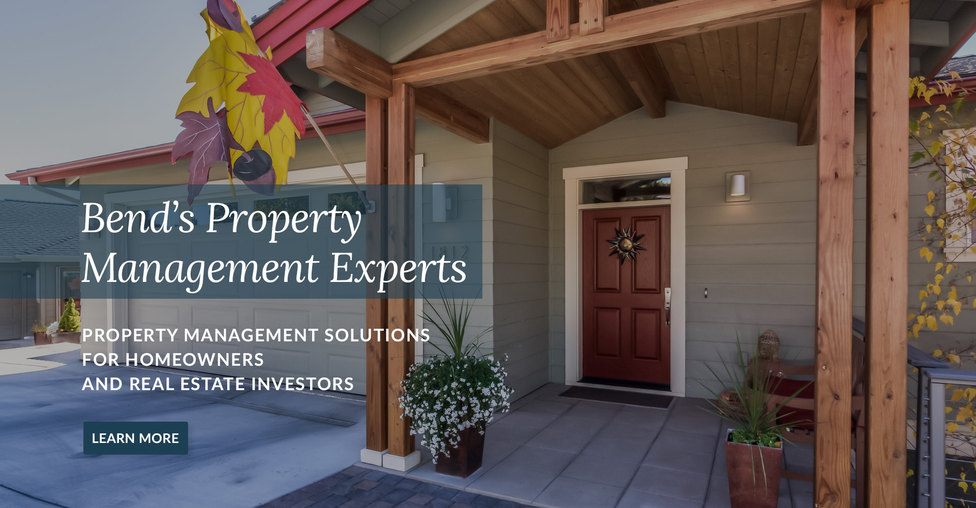 Property management for real estate investors