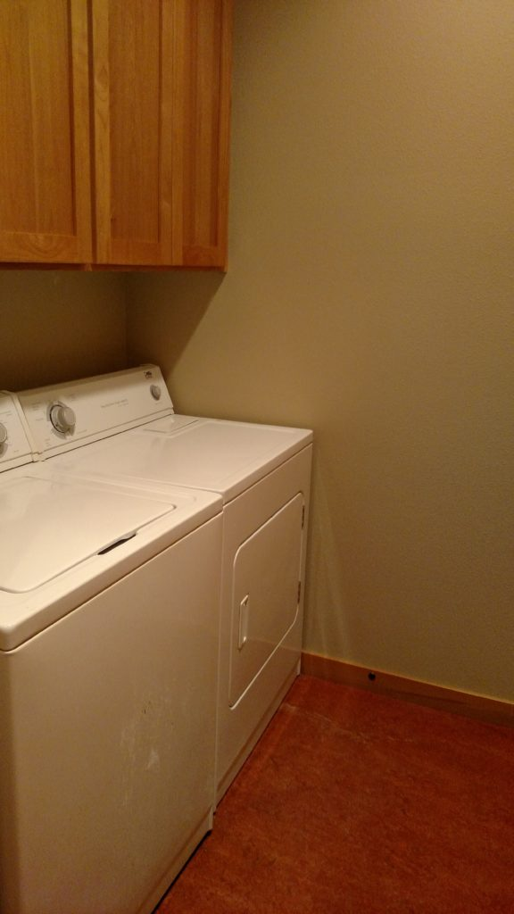Washer and dryer hook-ups in unit